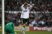 Photo: Pete Lorence.<br />Derby County v Bristol Rovers. The FA Cup. 27/01/2007.<br />Arturo Lupoli came close during the first half.