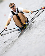 Poznan, POLAND,  NZL M1X, Mahe DRYSDALE   at the  start of his  semi final, at the 2008 FISA World Cup. Rowing Regatta. Malta Rowing Course on Saturday, 21/06/2008. [Mandatory Credit:  Peter SPURRIER / Intersport Images] Rowing Course:Malta Rowing Course, Poznan, POLAND