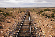 Grand Canyon Railway tracks looking south.