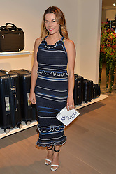 JULIET ANGUS at the launch of the new Rimowa store at 153a New Bond Street, London on 29th June 2016.