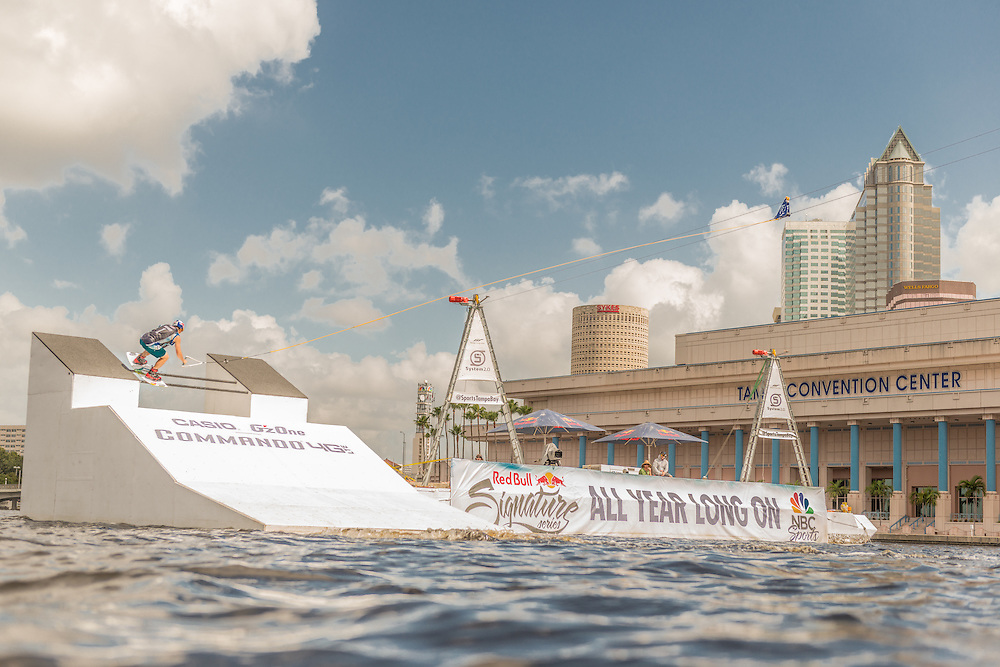 Steel Lafferty competes in the park competition during the Red Bull Wake Open in Tampa, Florida, USA on 6 July 2013.