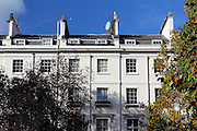 Imposing buildings on Chester Square, Belgravia, London
