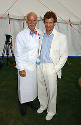Left to right, chefs ANTON MOSIMANN and TOM AIKENS  at the Cartier International polo at Guards Polo Club, Windsor Great Park, on 30th July 2006.<br /><br />NON EXCLUSIVE - WORLD RIGHTS