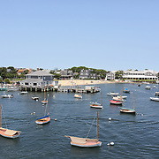 Sail boats moored in Nantucket Harbor, Nantucket Island, Massachusetts, USA. Photo Tim Clayton