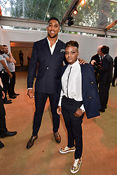 Anthony Joshua and Nicola Adams at the Glamour Women of The Year Awards 2017 in association with Next held in Berkeley Square Gardens, London England. 6 June 2017.