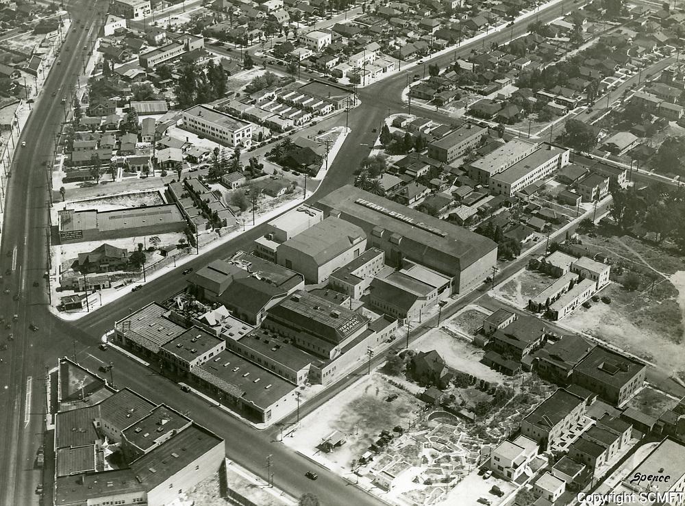 1931 Aerial view of Tiffany Stahl Studios