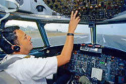 Captain Getting Ready For Take Off, BAC 111 401-AK