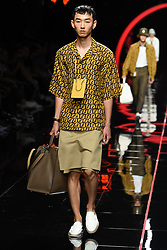 A model on the runway during the Fendi Fashion Show