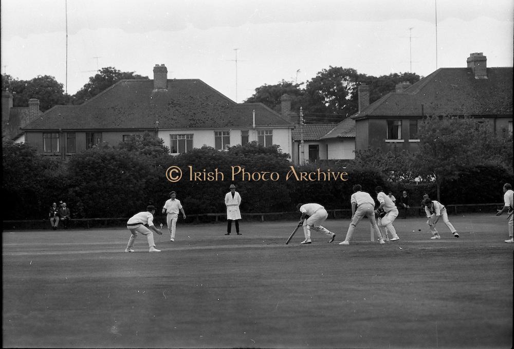 18/07/1970<br /> 07/18/1970<br /> 18 July 1970<br /> Cricket: Clontarf 1st XI v Old Belvedere, Leinster Senior Cup Final at Clontarf Cricket Club, Dublin.