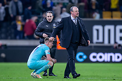 February 11, 2019 - Wolverhampton, England, United Kingdom - Avery angry Rafa Benitez Manager of Newcastle United at the end of the Premier League match between Wolverhampton Wanderers and Newcastle United at Molineux, Wolverhampton on Monday 11th February 2019. (Credit Image: © Mi News/NurPhoto via ZUMA Press)