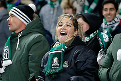 Sporting fans are in good spirits before the game - Photo mandatory by-line: Rogan Thomson/JMP - 07966 386802 - 10/12/2014 - SPORT - FOOTBALL - London, England - Stamford Bridge - Sporting Clube de Portugal - UEFA Champions League Group G.