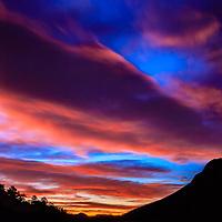 Moon at Sunrise - Sheep Lakes - Rocky Mountain National Park