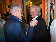 GRIFF RHYS JONES; A.C. GRAYLING, Literary Review Christmas drinks and  Bad Sex in fiction Awards, In and Out club. St. James's Sq. London. 30 November 2017