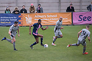Team captain Danny Mills on the attack for Dulwich Hamlet FC v Chippenham Town in the FA Trophy third qualifying round at Champion Hill on the 23rd November 2019 in South London in the United Kingdom.