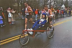 Rick & Dick Hoyt, Boston Marathon 1988