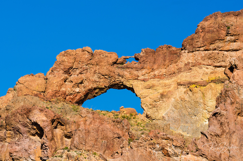 Double arch in the Ajo Mountains, Organ Pipe Cactus National Monument, Arizona USA