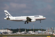 SX-DVI Aegean Airlines, Airbus A320 Photographed at Malpensa airport, Milan, Italy