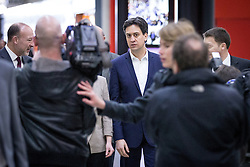 "© Licensed to London News Pictures . 01/03/2014 . London , UK . Ed Miliband arrives at the conference . The Labour Party hold a one day "" Special Conference "" at the Excel Centre in London today (Saturday 1st March 2014) . Photo credit : Joel Goodman/LNP"