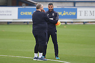 AFC Wimbledon coach Steven Reid on the pitch prior to kick off during the EFL Sky Bet League 1 match between AFC Wimbledon and Southend United at the Cherry Red Records Stadium, Kingston, England on 24 November 2018.