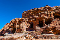 Royal Tombs, Petra Archaeological Park (a UNESCO World Heritage Site), Petra, Jordan.