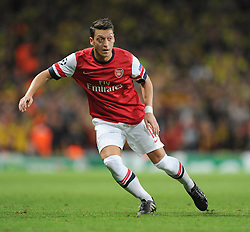 Arsenal's Mesut Ozil - Photo mandatory by-line: Alex James/JMP - Tel: Mobile: 07966 386802 22/10/2013 - SPORT - FOOTBALL - Emirates Stadium - London - Arsenal v Borussia Dortmund - CHAMPIONS LEAGUE - GROUP F