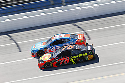 April 29, 2018 - Talladega, Alabama, United States of America - Martin Truex, Jr (78) and Darrell Wallace, Jr (43) battle side by side down the front stretch for position during the GEICO 500 at Talladega Superspeedway in Talladega, Alabama. (Credit Image: © Justin R. Noe Asp Inc/ASP via ZUMA Wire)