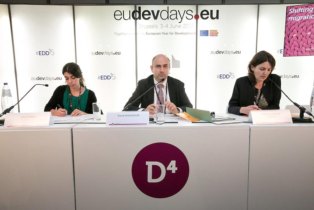 03 June 2015 - Belgium - Brussels - European Development Days - EDD - Migration - Shifting wealth , shifting migration flows - David Khoudour , Head of Migration and Skills Unit , Organisation for Economic Cooperation and Development (OECD) © European Union