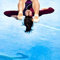 The Netherlands, Almere, 17-12-2011.<br /> Gymnastics, Floor, Gala.<br /> Catalina Ponor from Roemenia.<br /> Photo : Klaas Jan van der Weij