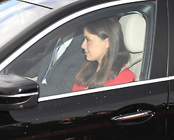 Sophie Winkleman arriving for the Queen's Christmas lunch at Buckingham Palace, London.