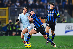 03.12.2010, Stadio Olimpico, Rom, ITA, Serie A, Lazio Rom vs Inter Mailand, im Bild HERNANES Lazio e Wesley SNEIJDER Inter., EXPA Pictures © 2010, PhotoCredit: EXPA/ InsideFoto/ Andrea Staccioli         +++++ ATTENTION - FOR AUSTRIA/AUT, SLOVENIA/SLO, SERBIA/SRB an CROATIA/CRO CLIENT ONLY +++++