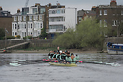 London. UNITED KINGDOM.  160th BNY Mellon Boat Race on the Championship Course, River Thames, Putney/Mortlake.  Saturday  05/04/2014    [Mandatory Credit. Intersport Images]<br /> <br /> The 19th Oxford & Cambridge Veterans' Race<br /> From Putney Stone to Furnivall Steps.<br /> <br /> Cambridge University<br /> <br /> Bow, Tom Middleton, 2, Lukas Hirst, 3, Paul Wright, 4, Kieran West, 5, Guy Pooley, 6, David Gillard, 7, Sebastian Schulte, Stroke, Marc Weber, Cox, Sarah Smart