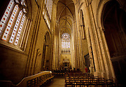 The large main hall of an old cathedral near the Loire Valley region of France