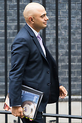 Downing Street, London, February 7th 2017. Communities and Local Government Secretary Sajid Javid leaves 10 Downing Street following the weekly UK cabinet meeting.