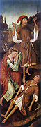 Adam and Eve Weeping over Abel's Body'. Vranck van der Stockt (before 1420-c1495) South Netherlandish painter.