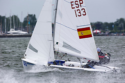 Medal Race 470 WOMEN. Sophie Weguelin  and  Eilidh Mcintyre  win the medal race and overall  470 WOMEN class at the Delta Lloyd Regatta  2015 (26/30 May 2015). Medemblik - the Netherlands.