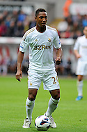 Swansea city's Jonathan De Guzman .Pre-season friendly match, Swansea city v Blackpool at the Liberty Stadium in Swansea, South Wales on Tuesday 7th August 2012. pic by Andrew Orchard, Andrew Orchard sports photography,