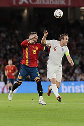 Spain's Sergio Ramos and England's Harry Kane during UEFA Nations League 2019 match between Spain and England at Benito Villamarin stadium in Sevilla, Spain. October 15, 2018. Photo by A. Perez Meca/Alterphotos/ABACAPRESS.COM