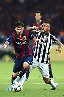 Lionel Messi, Arturo Vidal <br /> Berlino 06-06-2015 OlympiaStadion  <br /> Juventus Barcelona - Juventus Barcellona <br /> Finale Final Champions League 2014/2015 <br /> Foto Matteo Gribaudi/Image Sport/Insidefoto
