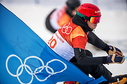 PYEONGCHANG-GUN, SOUTH KOREA - FEBRUARY 24: Zan Kosir of Slovenia competes during the Men's Parallel Giant Slalom Qualification Run on day fifteen of the PyeongChang 2018 Winter Olympic Games at Phoenix Snow Park on February 24, 2018 in Pyeongchang-gun, South Korea. Photo by Ronald Hoogendoorn / Sportida