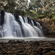This beautiful waterfall, called Rochester Falls, is off the beaten track. It is only accessed through a long, winding road through sugarcane fields. The waterfall clearly indicates the volcanic origins of Mauritius. Many of the natural wonders of Mauritius are in tiny patches of forest in the midst of sugarcane and agricultural fields. Less than 2% of the native forest cover remains.