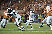 AUSTIN, TX - SEPTEMBER 19:  Jared Goff #16 of the California Golden Bears drops back to pass against the Texas Longhorns on September 19, 2015 at Darrell K Royal-Texas Memorial Stadium in Austin, Texas.  (Photo by Cooper Neill/Getty Images) *** Local Caption *** Jared Goff