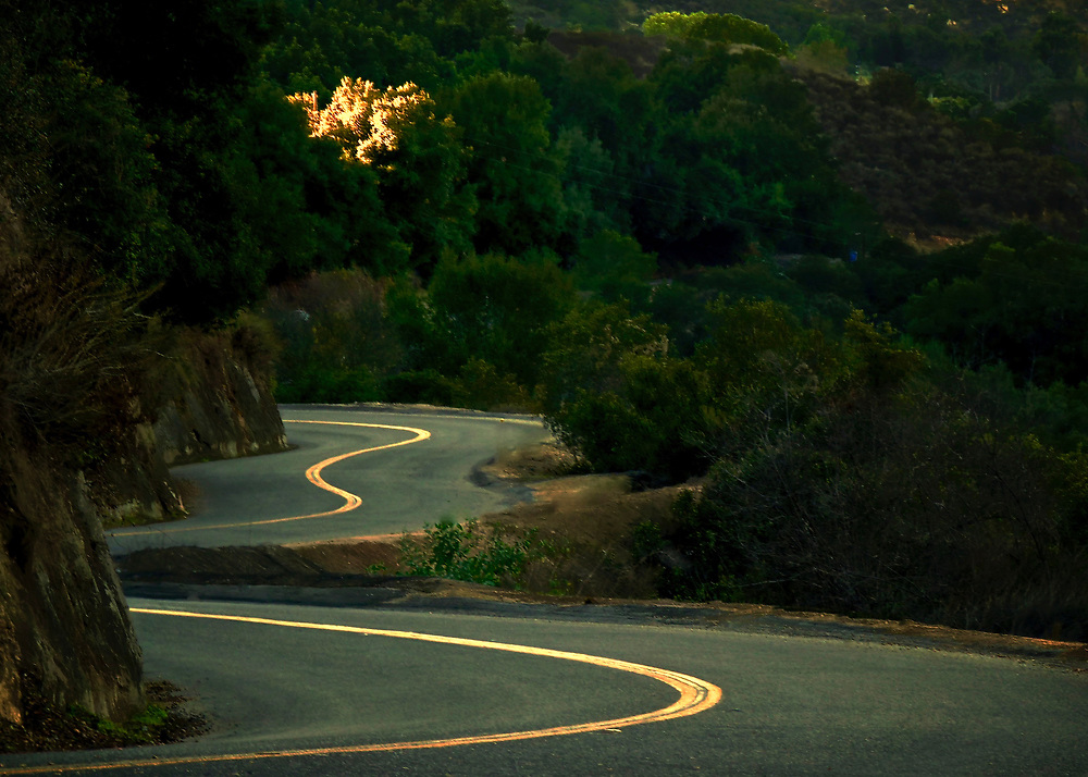 San Diego, California is best known for its beaches, yet the backcountry of San Diego County is wild and laced with over 400 miles of roads to challenge and satisfy even the most demanding driver.  This is Couser Canyon Road in the area of Valley Center and Pauma Valley.