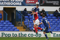 Oliver Hawkins of Ipswich Town wins a header - Mandatory by-line: Arron Gent/JMP - 31/10/2020 - FOOTBALL - Portman Road - Ipswich, England - Ipswich Town v Crewe Alexandra - Sky Bet League One