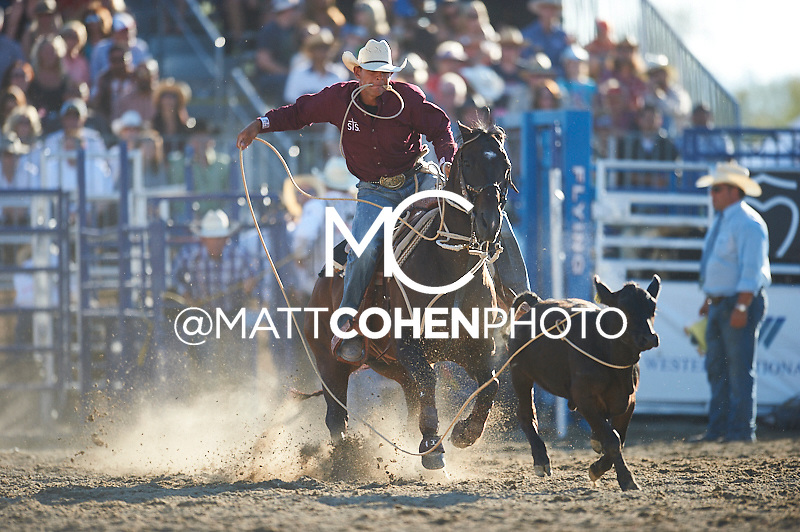Tie-down roper Marcos Costa of Childress, TX competes at the Rancho Mission Viejo Rodeo in San Juan Capistrano, CA.<br /> <br /> <br /> UNEDITED LOW-RES PREVIEW<br /> <br /> <br /> File shown may be an unedited low resolution version used as a proof only. All prints are 100% guaranteed for quality. Sizes 8x10+ come with a version for personal social media. I am currently not selling downloads for commercial/brand use.