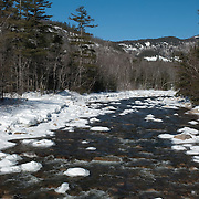 The Swift River in winter. White Mountain National Forest