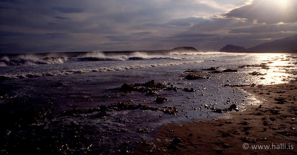 Ströndin skammt við Búðir á Snæfellsnesi / The coastline near Budir at Snaefellsnes