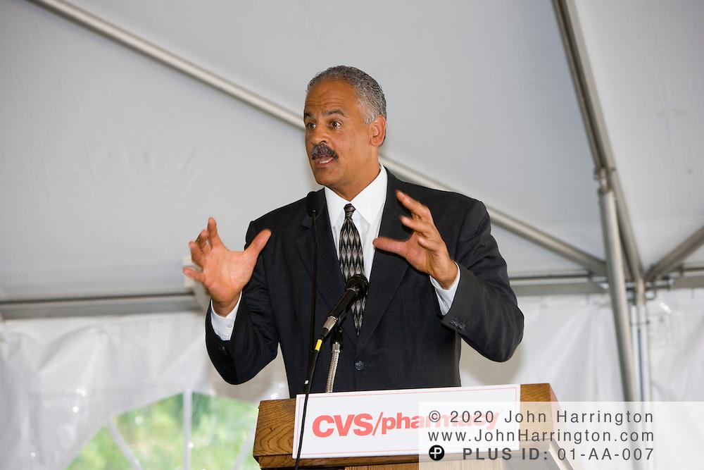 Stedman Graham, a motivational speaker and longtime companion to Oprah Winfrey, speaks at a CVS sponsored event on Thursday June 1, 2006.