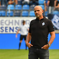 05.08.2019, Carl-Benz-Stadion, Mannheim, GER, 3. Liga, SV Waldhof Mannheim vs. TSV 1860 Muenchen, <br /> <br /> DFL REGULATIONS PROHIBIT ANY USE OF PHOTOGRAPHS AS IMAGE SEQUENCES AND/OR QUASI-VIDEO.<br /> <br /> im Bild: Bernhard Trares (Trainer SV Waldhof Mannheim)<br /> <br /> Foto © nordphoto / Fabisch