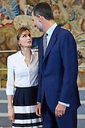 071715 Spanish Royals Receive 'Becas Europa' Participants of Francisco de Vitoria University