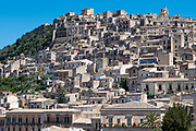 Ancient hill city of Modica Alta famous for its Baroque architecture, South East Sicily, Italy